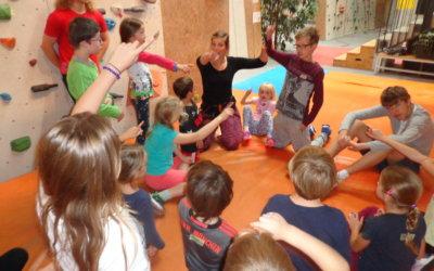 Kletter-Workshop für herzkranke Kinder und ihre Geschwister ab 6 Jahre.