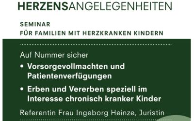 HERZENSANGELEGENHEITEN – Seminar für Familien mit herzkranken Kindern